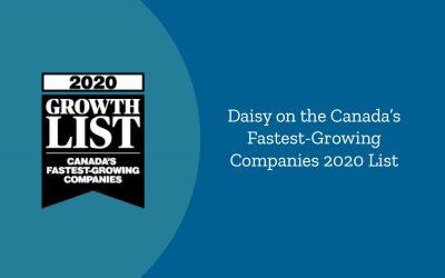 Daisy on the 2020 Growth List